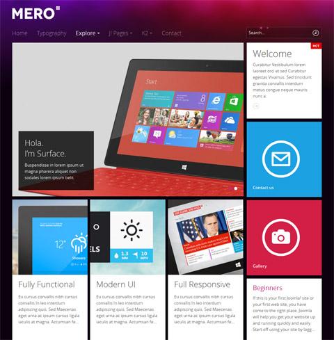 JA Mero - Responsive Joomla 3.0 & 2.5 template