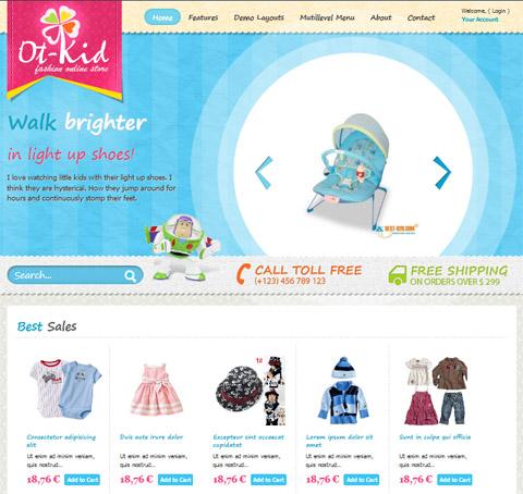 OT KID - Online Shop Joomla 2.5 Template for Kid