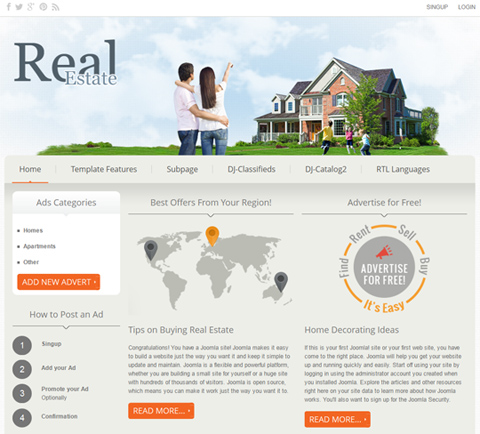 DJ Real Estate02 for Joomla 2.5