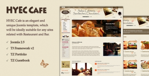 TZ HYEC Cafe Joomla 2.5 Template &#8211; TemPlaza