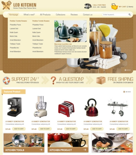 Leo Kitchen - Joomla 2.5 Template