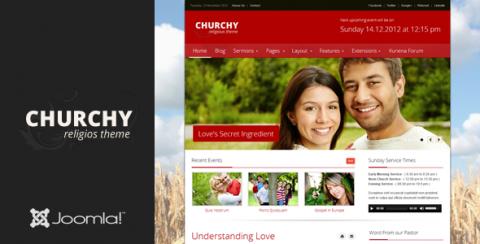 TF Churchy - Joomla 2.5 & 3.0 Church Template