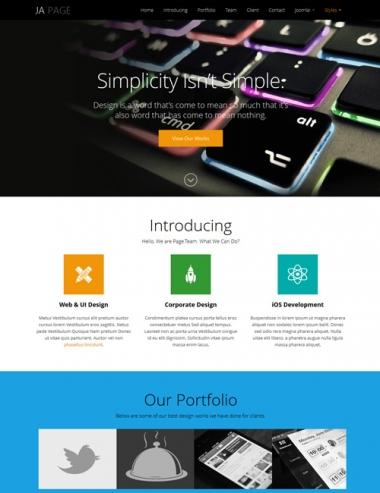 JA OnePage - Responsive Joomla 3.0 & 2.5 template