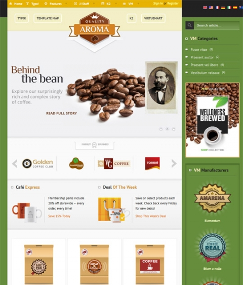 BonusThemes Aroma for Joomla 2.5 and 3.0
