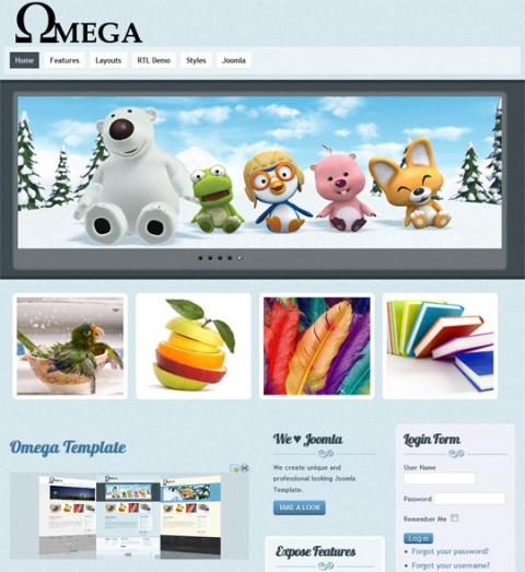 ThemeXpert Omega - Simple Yet Elegant Joomla 2.5 Template