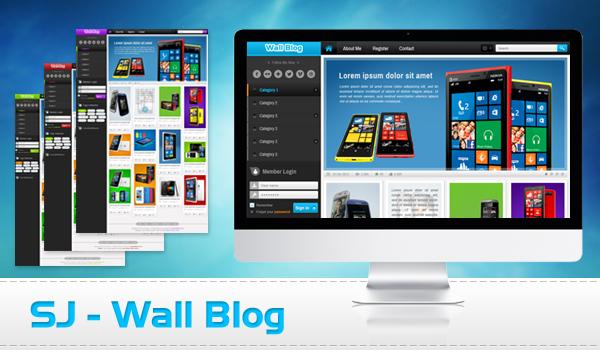 SJ Wall Blog - Template for Joomla 2.5