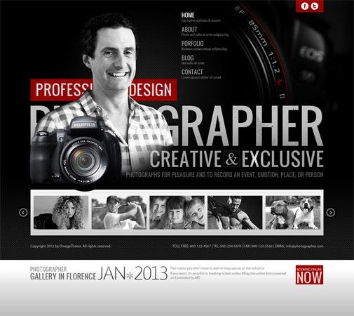 OT Photographer - Joomla 2.5 Template