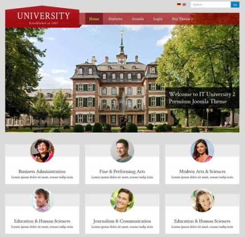 IT University 2 - May 2013 Premium Joomla 2.5 and 3.1 Template