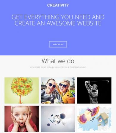 GK  Creativity - Responsive One Page Portfolio Joomla 2.5 Template