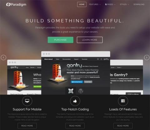 RT Paradigm - December Joomla 2.5 and 3.2 Joomla Template