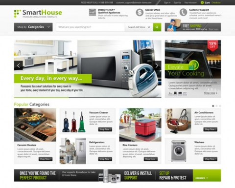 OT Smarthouse - Modern Style Furniture & Accessories Joomla 2.5 Responsive Template