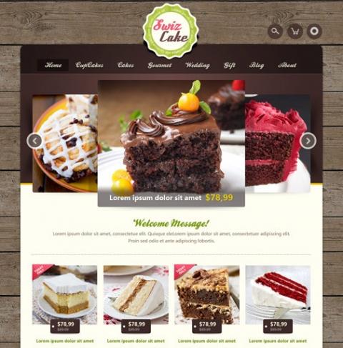 OT Swizcake - Cake Shop Joomla 2.5 Template