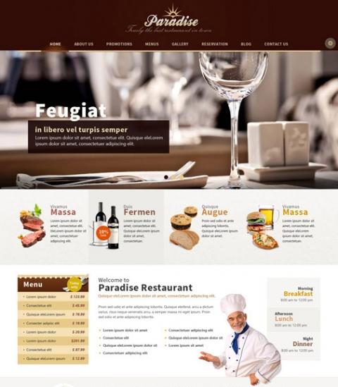 OT Paradise - Restaurant Responsive Joomla 2.5 Template