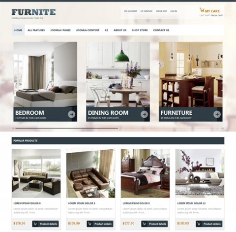 OT Furnite - High standard furniture stores Joomla 2.5 Template