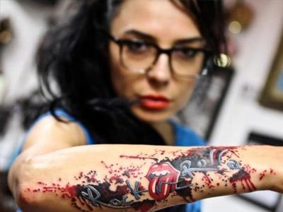 Татуировки в стиле «рок»