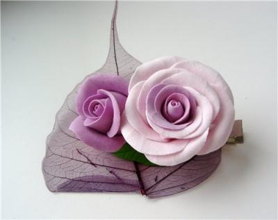 Лепка цветов из полимерной глины
