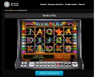 Игровой автомат Book of Ra (Книга Ра) от Novomatic